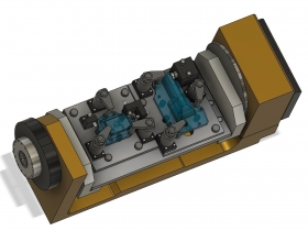 自動車用エンジン部品加工治具 サイズ:800×500mm