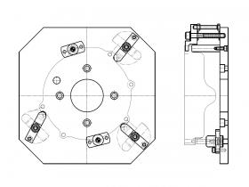MC用アルミダイカスト治具(2)サイズ:250×250mm